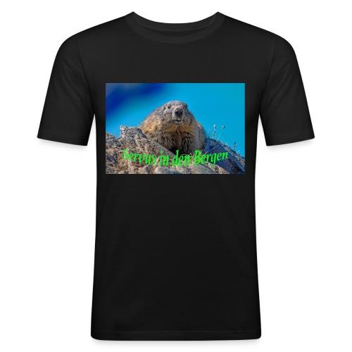 Servus in den Bergen - Männer Slim Fit T-Shirt
