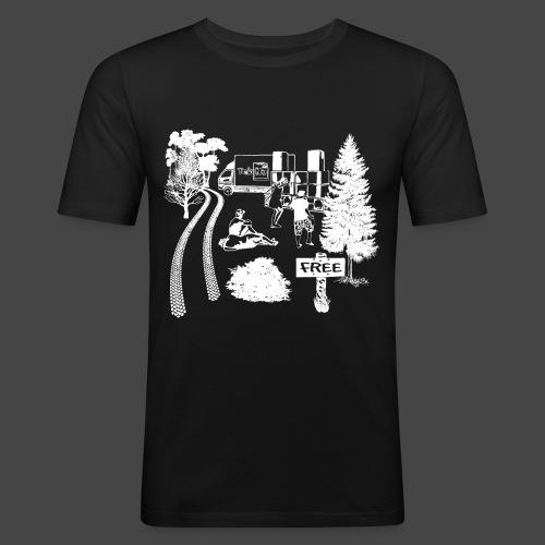 Free Party Tekno 23 - T-shirt près du corps Homme