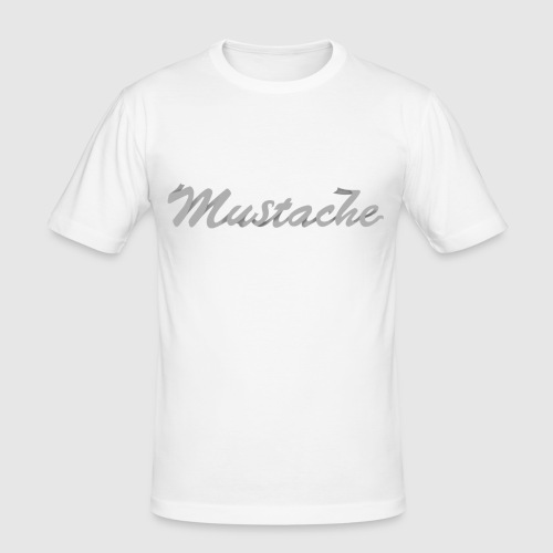 White Lettering - Men's Slim Fit T-Shirt