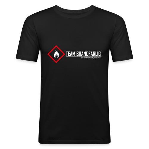 Team Brandfarlig vit - Slim Fit T-shirt herr