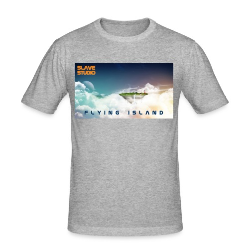 flying island - Maglietta aderente da uomo
