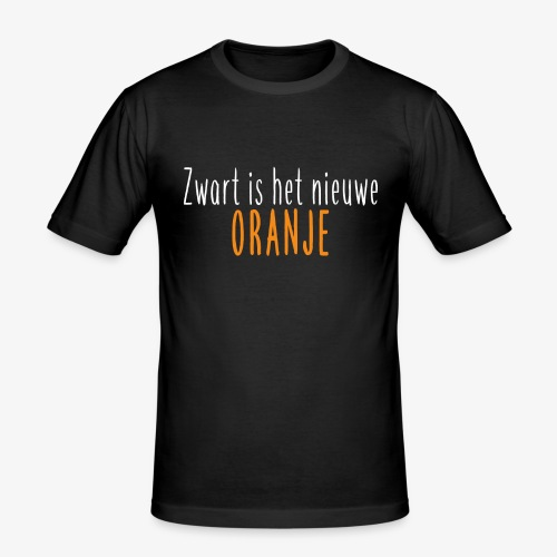 Zwart is het nieuwe oranje - Mannen slim fit T-shirt