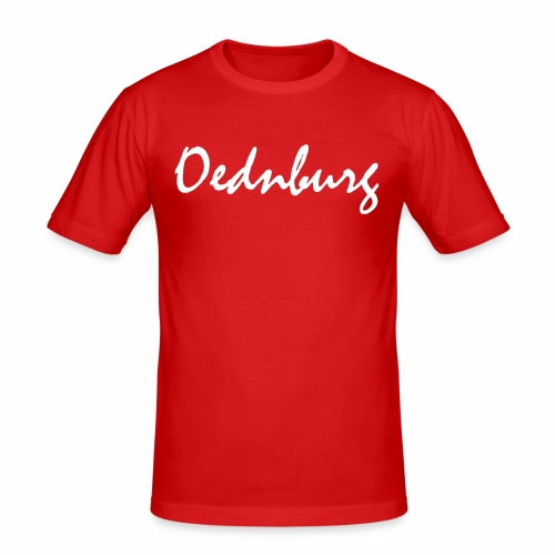 Oednburg Wit - Mannen slim fit T-shirt
