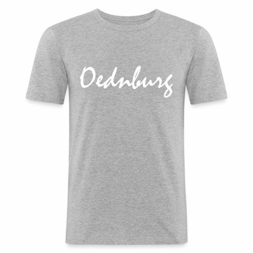 Oednburg Wit - Mannen slim fit T-shirt