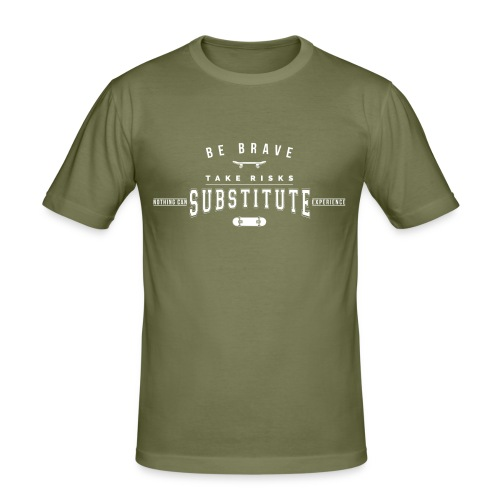 skateboard - Obcisła koszulka męska