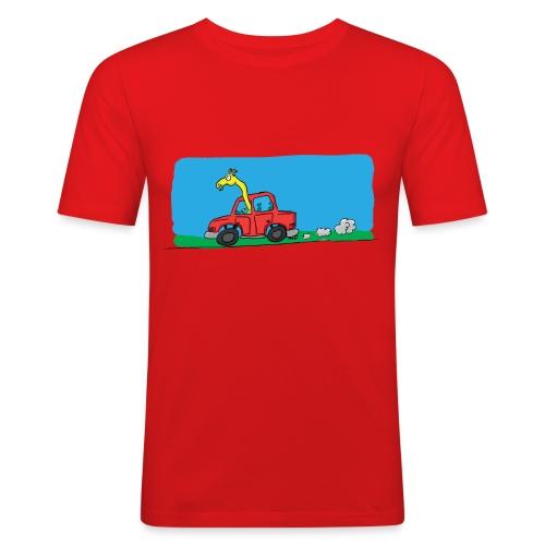 La girafe conductrice - T-shirt près du corps Homme