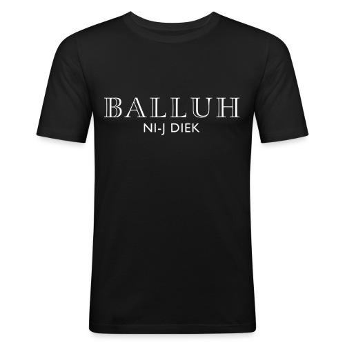 BALLUH NI-J DIEK - zwart/wit - Mannen slim fit T-shirt
