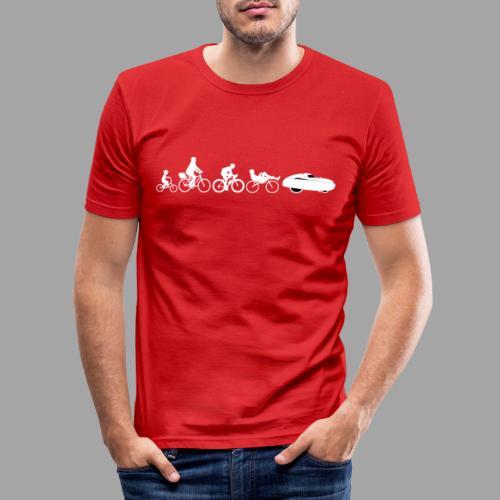 Bicycle evolution white - Miesten tyköistuva t-paita