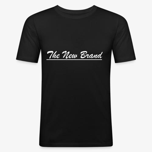 TheNewBrand logo wit - Mannen slim fit T-shirt