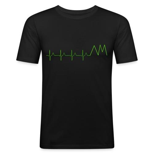 Art&MotionEKG - Männer Slim Fit T-Shirt