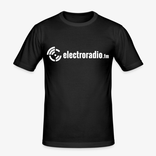 electroradio.fm - Männer Slim Fit T-Shirt
