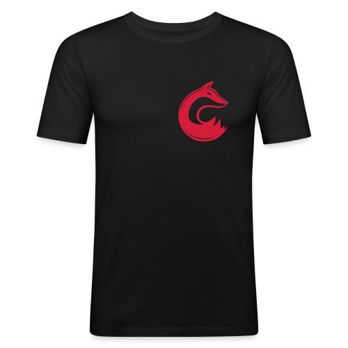 Swiftfox Black Vektor - Männer Slim Fit T-Shirt