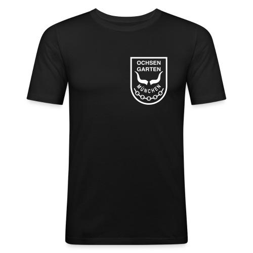 Ochsen Logo - Männer Slim Fit T-Shirt