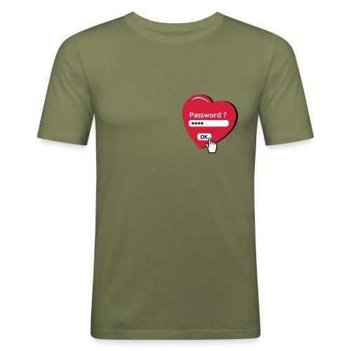 coeur - T-shirt près du corps Homme