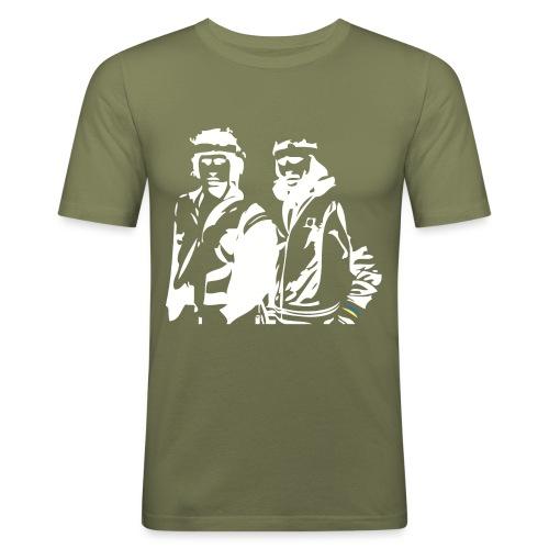Borg McEnroe Retro Green+White - Miesten tyköistuva t-paita