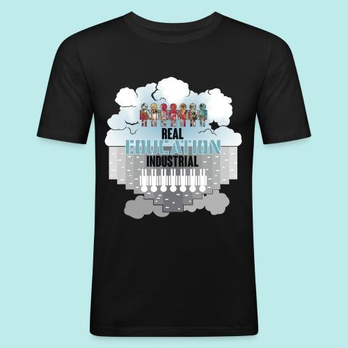 Real Education vs. Industrial Education - Camiseta ajustada hombre