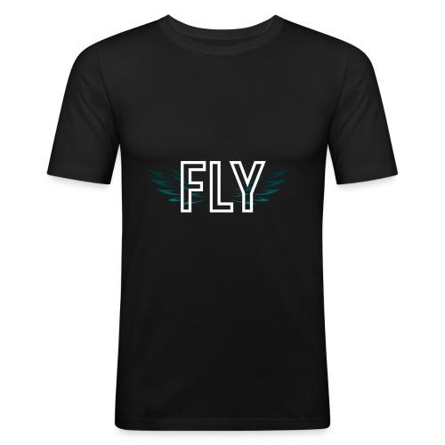 Wings Fly Design - Men's Slim Fit T-Shirt