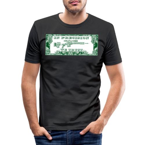 In Precision we Trust - Männer Slim Fit T-Shirt