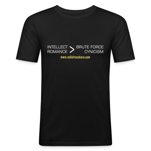 shirt intellect white - Men's Slim Fit T-Shirt