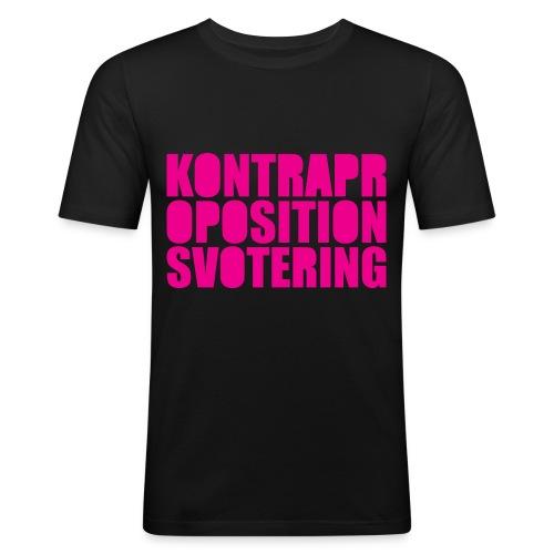 Kontrapropositionsvotering MAGENTA - Slim Fit T-shirt herr