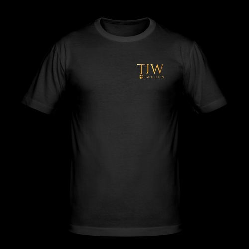 Gold logo - Men's Slim Fit T-Shirt