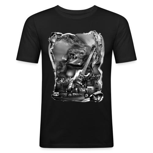 goristeroller zw - Mannen slim fit T-shirt