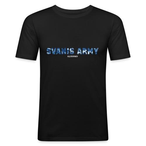 SVANIS ARMY (ALEXSVANIS VIT) - Slim Fit T-shirt herr