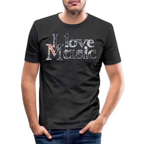 I love Music - Männer Slim Fit T-Shirt