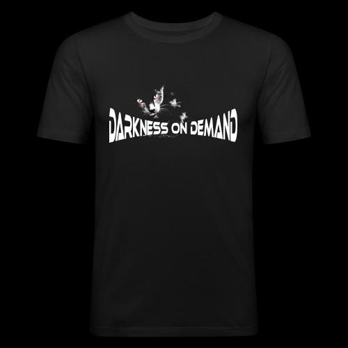 DoD Darkness on Demand Cat - Männer Slim Fit T-Shirt