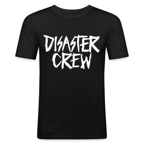 Disaster Crew Logo - Mannen slim fit T-shirt