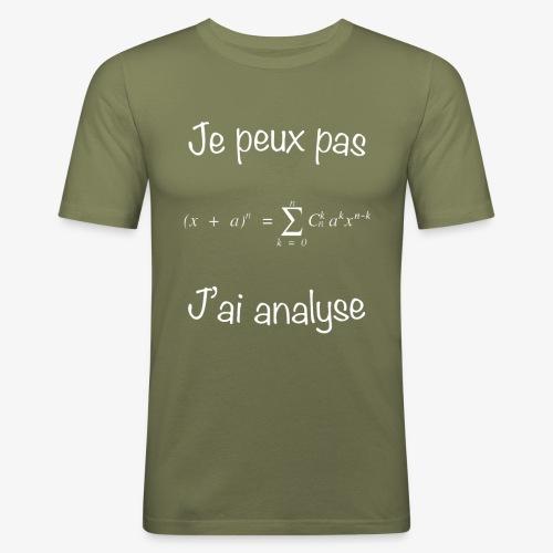 Je peux pas, j'ai analyse - Männer Slim Fit T-Shirt