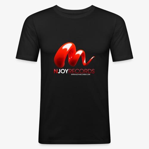 Logo Njoy Records Blanc - T-shirt près du corps Homme