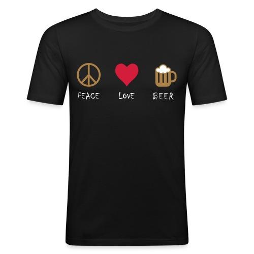 Peace Love Beer - Men's Slim Fit T-Shirt