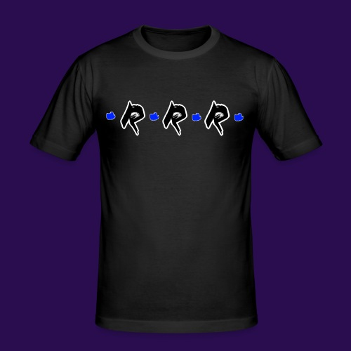 Blue Logo - Männer Slim Fit T-Shirt