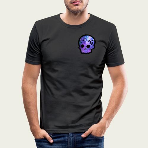 Skull craneo nebulosa - Camiseta ajustada hombre
