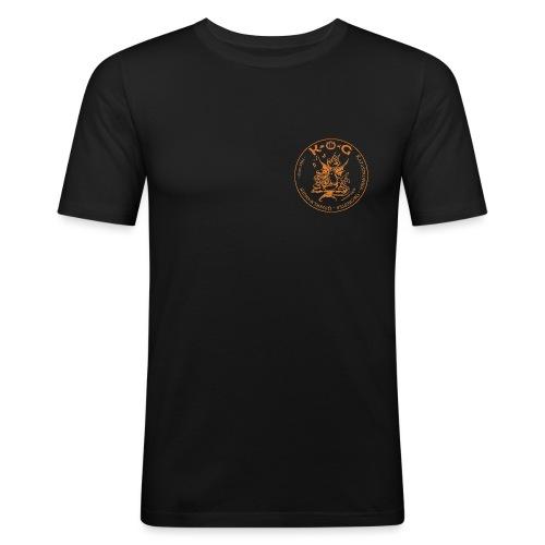 kog logo rund 2010 tr - Männer Slim Fit T-Shirt