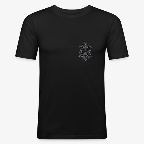Fox Skull Demonlord - wh Logo - Männer Slim Fit T-Shirt