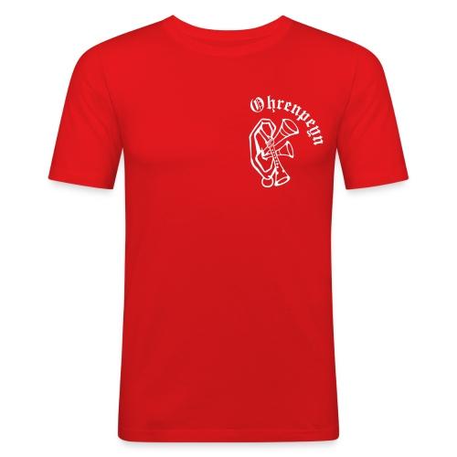 Logo mit Schriftzug v3 - Männer Slim Fit T-Shirt