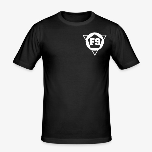 False 9 official logo white png - Men's Slim Fit T-Shirt