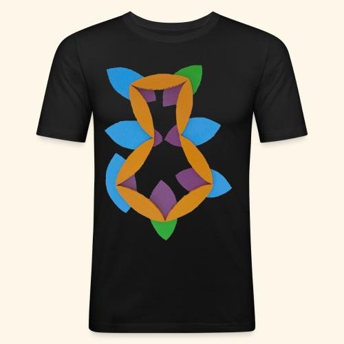 oranjeblanjebleu - Mannen slim fit T-shirt