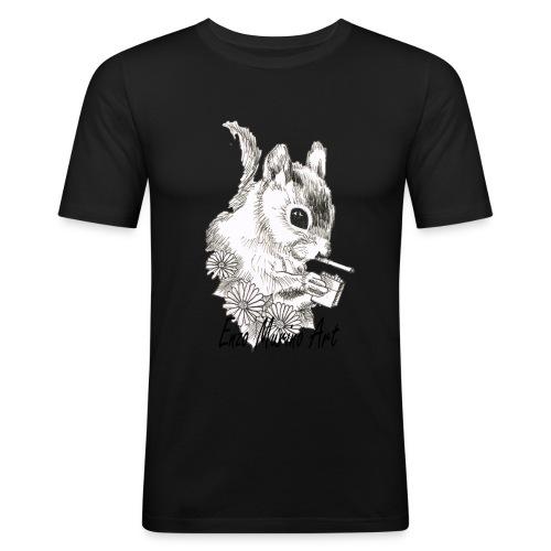 Ecureuil la clope - T-shirt près du corps Homme