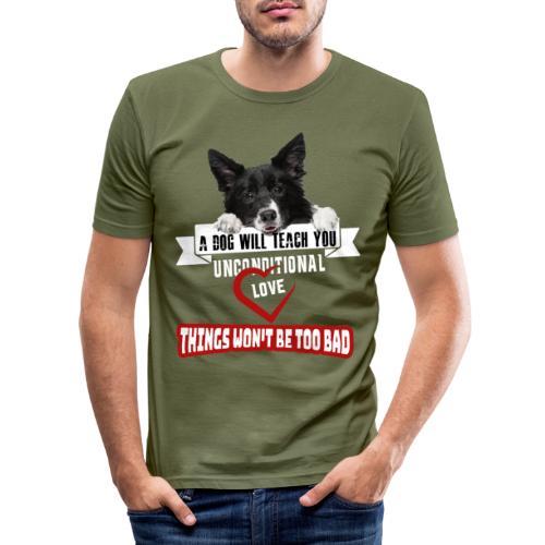 Border Colli Bedingungslose Liebe - Männer Slim Fit T-Shirt
