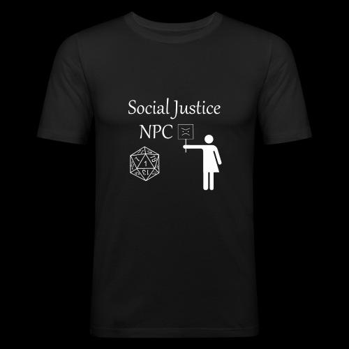 Social Justice NPC - Men's Slim Fit T-Shirt