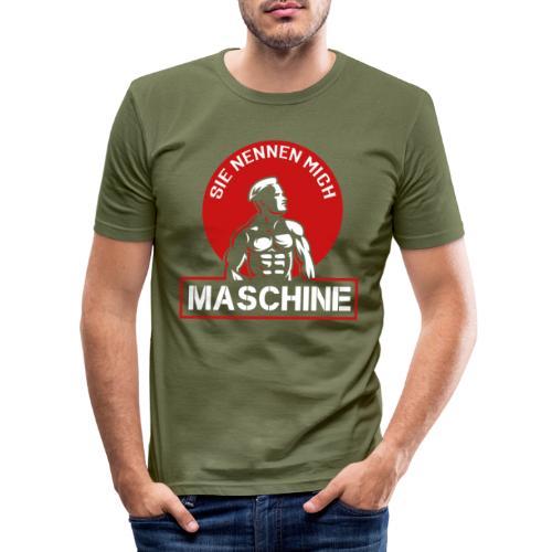 Sie nennen mich Maschine - Männer Slim Fit T-Shirt