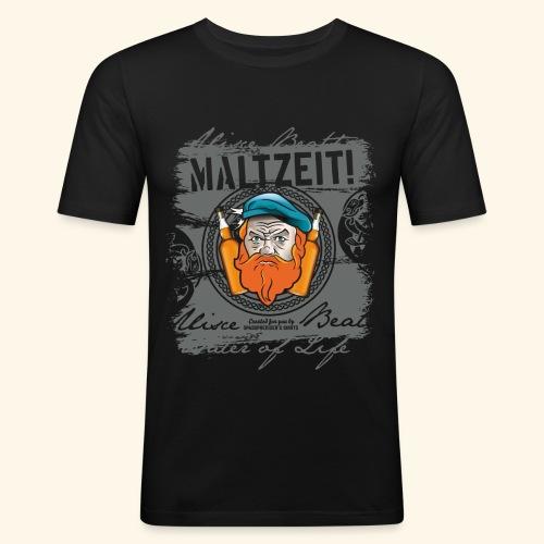 Whisky T Shirt Design Maltzeit - Männer Slim Fit T-Shirt