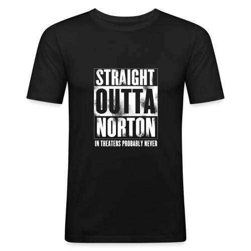 Straight Outta Norton - Men's Slim Fit T-Shirt