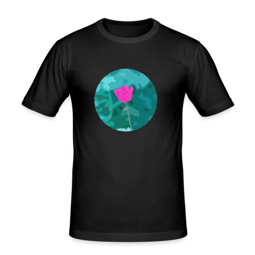 Flower power - Mannen slim fit T-shirt