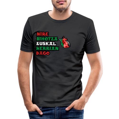 Bihotza - Camiseta ajustada hombre