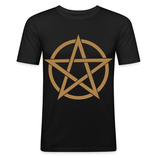 Pentagramme Wicca - T-shirt près du corps Homme