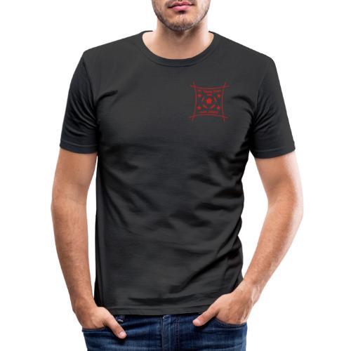 Logo rot / schrift rot - Männer Slim Fit T-Shirt